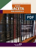 Nueva Gaceta Bibliográfica UNAM