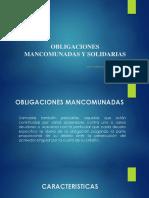 Obligaciones Mancomunadas y Solidarias Diapositivas