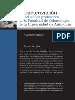 Caracterización Del Rol de Los Profesores de La Facultad de Odontología de La Universidad de Antioquia