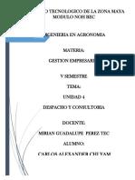 Resumen U4 Despacho y Consultoría