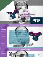 uso de inmuglonulinas en pediatria. 2019 Barrios