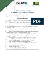 Temanrio de congreso de Psiquiatria