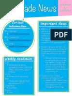 2nd grade newsletter 9 30 19