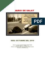 Horarios de Salats OCTUBRE 2019 Ecuador