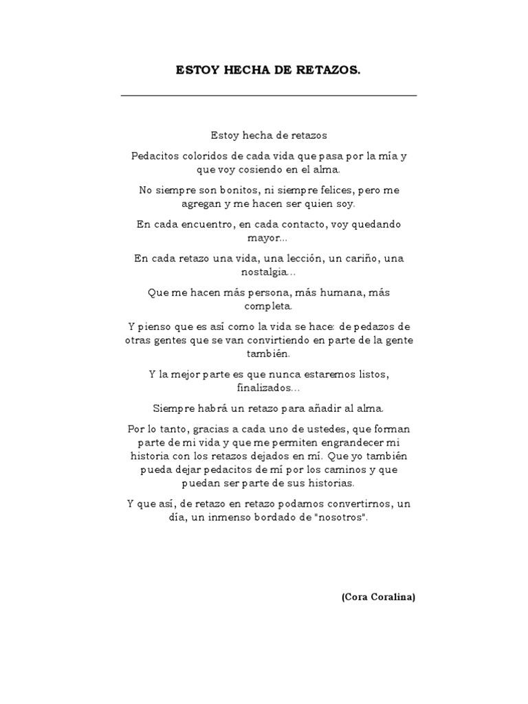Estoy Hecha De Retazos Poema