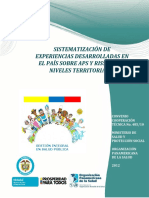 3. Sistematización Experiencias APS Colombia