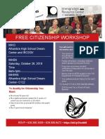 Citizenship Workshop Flyer Oct 26 English