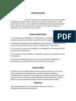 Caracteristicas de La Administración de Los Recursos Humanos