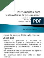Instrumentos Para Sistematizar La Observacion