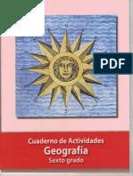 CUADERNO DE ACTIVIDADES DE GEOGRAFIA SEXTO GRADO