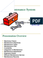 Maintenance Planning Systems
