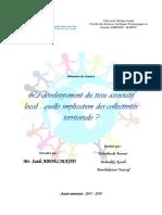 Développement du tissu associatif :quelle implication des collectivités territoriale ?