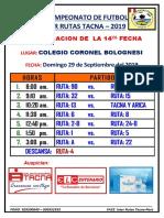 Vii Campeonato de Futbol Inter Rutas 2019 Ccc