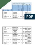 Registros y Plan de Gestión de Riesgos