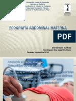 Ecografía Abdominal Materna