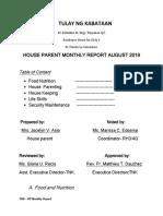 Aug Report