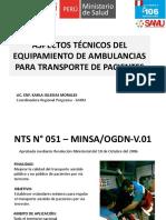 equipamiento de ambulancias en salud