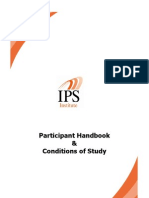 Participant Handbook and Conditions of Study