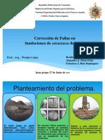 CORRECION DE FALLAS EN TECNICAS DE REFORZAMIENTOS