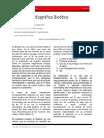 Revisión Bibliográfica Bioética