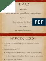 Diapositivas Introducción a PHP