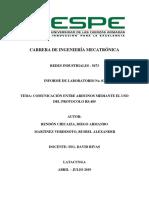 Informe - Comunicación RS485