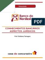 Simulado Bnb 2018 Analista Conhecimentos Bancarios Aspectos Juricos Giuliano Tamagno