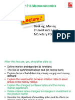 Lecture 7 Banking, Money and Monetary Policy