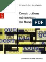 Constructions Meconnues Du Francais Tellier Valois