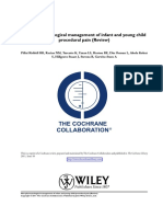 Non-pharmacological Management of Infant and Young Child Procedural Pain