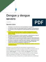 Dengue y Dengue Severo 2019