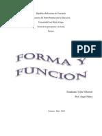 Forma y Función Ensayo