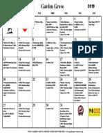 Calendar October 2019 PDF