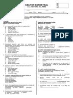 Examen Bimestral Hp Tercer Bimestre 3er Año