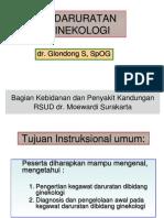 kadaruratan ginekologi