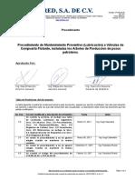 Proced. Lubricacion de Valvulas de Compuerta Flotante de 15,000 Psi.