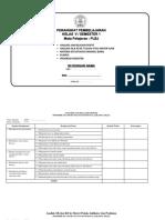 Perangkat Pembelajaran PLBJ Kelas 5 Semester 1