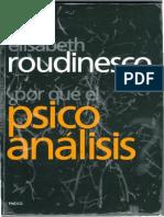Por Qué El Psicoanalisis, E Roudinesco