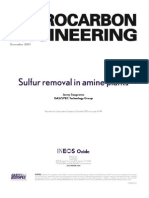 Sulfur Removal in Amine Plants