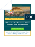 The California-Mexico Studies Center - Reminder 50th Anniversary of Chicano Studies Intl Conference is in 10 Days!