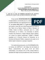 Asunto de Óscar Eduardo Rojas Santoyo