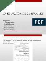 Exposición Ecuación de Bernoulli