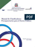 Manual de Clasificadores Presupuestarios 2014