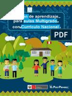 Cartilla Sesion de Aprendizaje Para Aula Multigrado 1 PDF