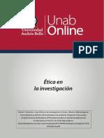 ETICA EN LA INVESTIGACIÓN . GARCIA VALVERDE