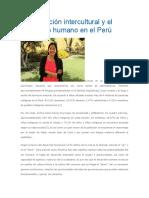 La Educación Intercultural y El Desarrollo Humano en El Perú