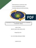 Monografia Historia y Relacion Ciencia,Tecnologia e Ingenieria Mondalgo