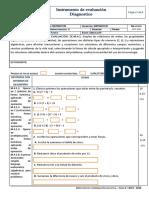 Evaluacion de Diagnostico