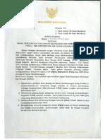 Surat Edaran Walikota Mengenai RW ODF