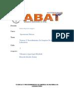 Tecnicas y Procedimientos de Limpieza de Materiales de Laboratorio